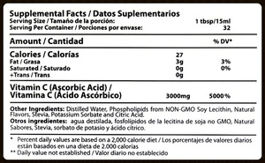 VITAMIN+C+NUTRITIONAL+INFORMATION